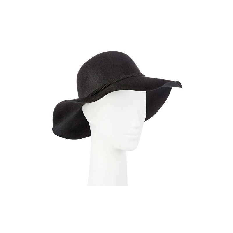 Merona Women/'s Black Wool Floppy Fedora Hat